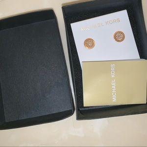 Rose Gold Michael Kors earrings